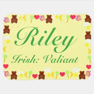 Plantilla de la manta del bebé de Riley Mantas De Bebé
