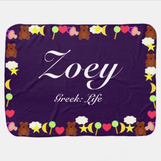 Plantilla de la manta del bebé de Zoey Mantas De Bebé