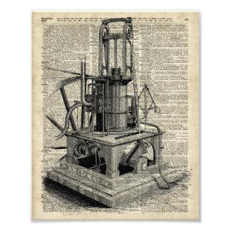 Plantilla de la máquina de Steampunk sobre la Fotografía