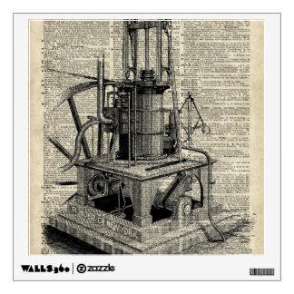 Plantilla de la máquina de Steampunk sobre la Vinilo Adhesivo