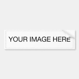 Plantilla de la pegatina para el parachoques etiqueta de parachoque