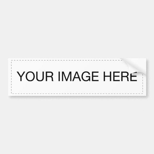 Plantilla de la pegatina para el parachoques pegatina de parachoque