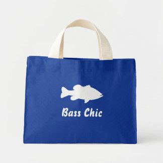Plantilla de la pesca de perca americana bolsas de mano