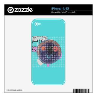 plantilla de la piel del iPhone 4 Calcomanía Para El iPhone 4