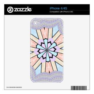 plantilla de la piel del iPhone 4 Calcomanía Para iPhone 4S