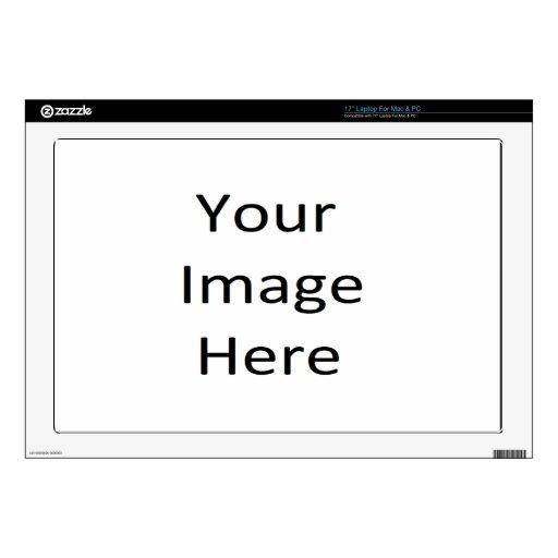 Plantilla de la piel del ordenador portátil de 17  calcomanías para 43,2cm portátiles