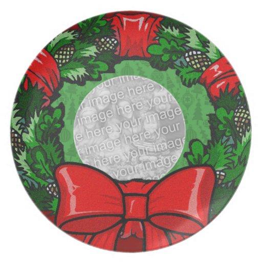 Plantilla de la placa de la foto - guirnalda del d platos para fiestas