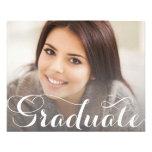 Plantilla de la postal de la graduación tarjetas informativas