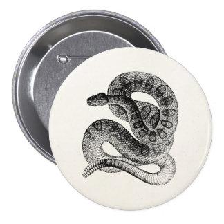 Plantilla de la serpiente del reptil de la pin redondo de 3 pulgadas