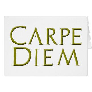 Plantilla de la tarjeta de Carpe Diem