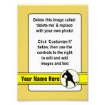Plantilla de la tarjeta de comercio del hockey impresiones fotográficas