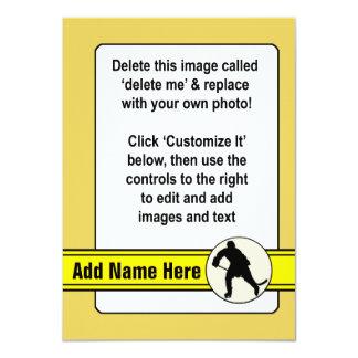 """Plantilla de la tarjeta de comercio del hockey invitación 4.5"""" x 6.25"""""""