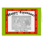 Plantilla de la tarjeta de felicitación de Kwanzaa