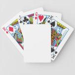 Plantilla de la tarjeta de la bicicleta barajas de cartas