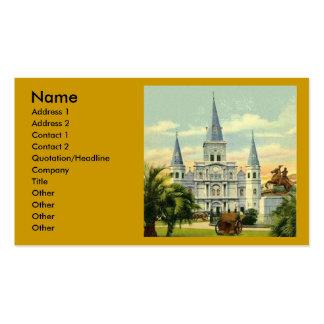 Plantilla de la tarjeta de la catedral de New Orle Plantilla De Tarjeta De Visita
