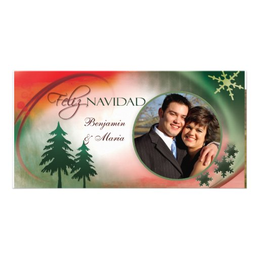 Plantilla de la tarjeta de la foto de Feliz Navida Tarjeta Con Foto Personalizada