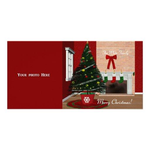 Plantilla de la tarjeta de la foto de las Felices  Tarjeta Personal