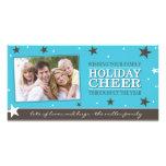 Plantilla de la tarjeta de la foto del navidad tarjetas personales