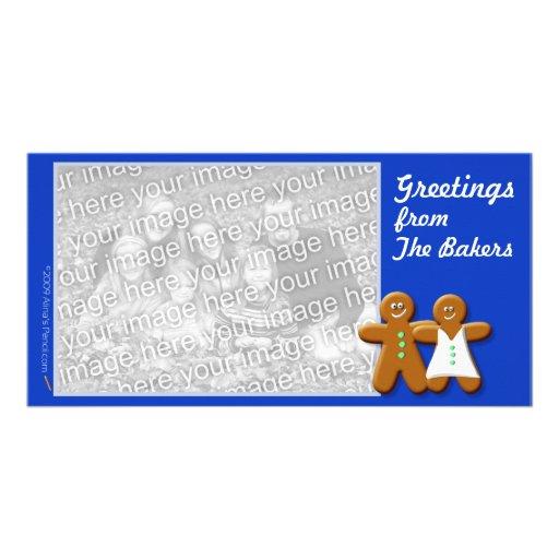 Plantilla de la tarjeta de la foto del pan de jeng tarjeta fotográfica