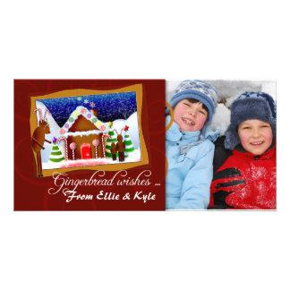 Plantilla de la tarjeta de la foto del pan de jeng tarjeta fotografica personalizada