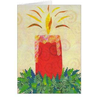 Plantilla de la tarjeta de la luz de una vela que