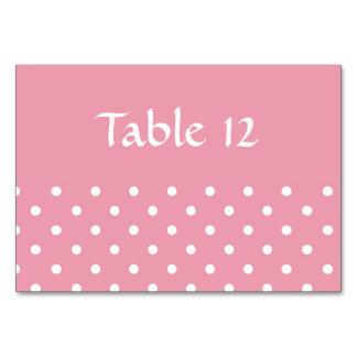 Plantilla de la tarjeta de la tabla del rosa color