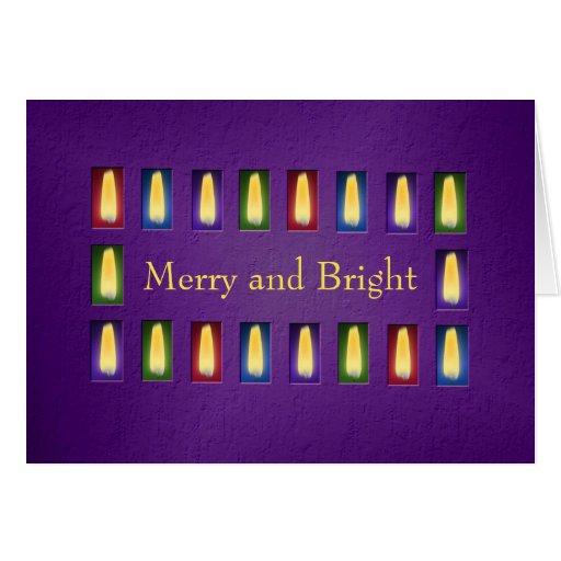 Plantilla de la tarjeta de Navidad de las llamas d