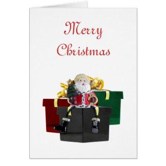 Plantilla de la tarjeta de Navidad de los regalos