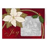 Plantilla de la tarjeta de Navidad del Poinsettia