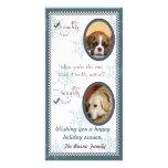 Plantilla de la tarjeta de Navidad dos del perro Tarjetas Con Fotos Personalizadas