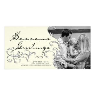 Plantilla de la tarjeta de Phot del navidad de Nav Tarjeta Personal Con Foto