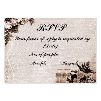 Plantilla de la tarjeta de RSVP Tarjetas De Visita Grandes