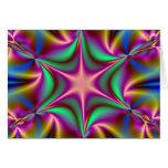 Plantilla de la tarjeta de Starflower del fractal