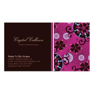Plantilla de la tarjeta de visita - caprichosa/div
