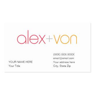 plantilla de la tarjeta de visita de Alex von (con