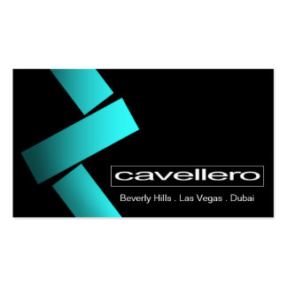 Plantilla de la tarjeta de visita de Cavellero