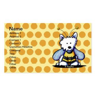Plantilla de la tarjeta de visita de la abeja de K