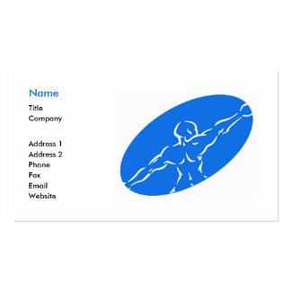 Plantilla de la tarjeta de visita de la aptitud -