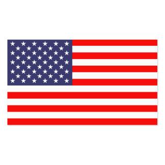 Plantilla de la tarjeta de visita de la bandera