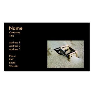 Plantilla de la tarjeta de visita de la caja de la