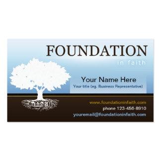 Plantilla de la tarjeta de visita de la fe de la
