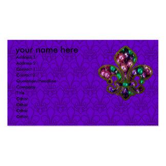 Plantilla de la tarjeta de visita de la flor de li