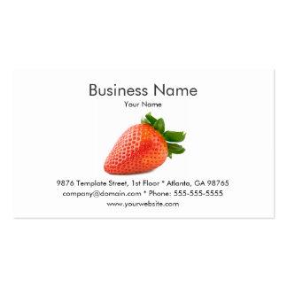 Plantilla de la tarjeta de visita de la fresa