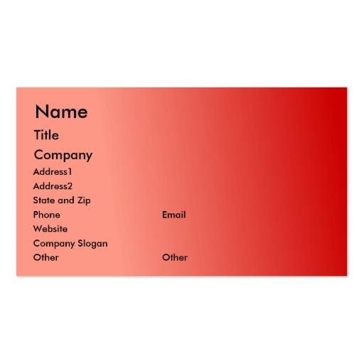 Plantilla de la tarjeta de visita de la fruta de l