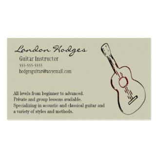 Plantilla de la tarjeta de visita de la guitarra a