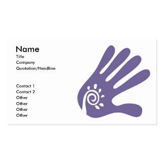 Plantilla de la tarjeta de visita de la mano del m