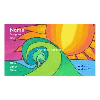 Plantilla de la tarjeta de visita de la onda calie