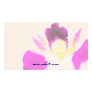 Plantilla de la tarjeta de visita de la orquídea