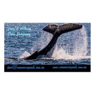 Plantilla de la tarjeta de visita de la platija de