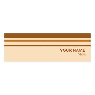 Plantilla de la tarjeta de visita de la raya de la